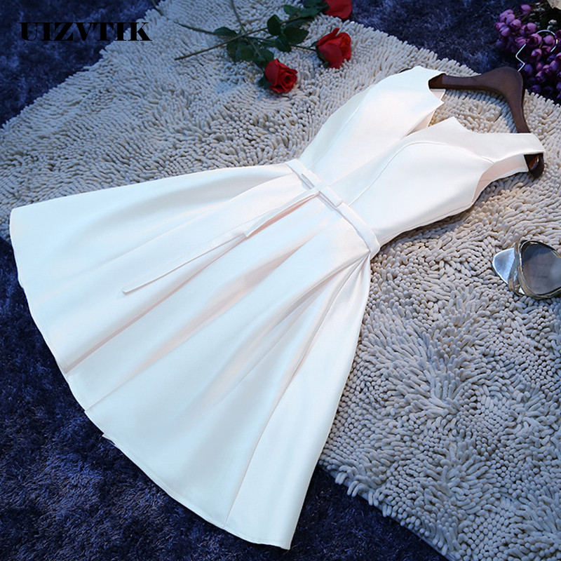 Bandage White Summer Dress Women 2019 Elegant Wedding Bridesmaid Formal Party Dress Casual Plus Size Slim Solid Mini Dresses 4XL
