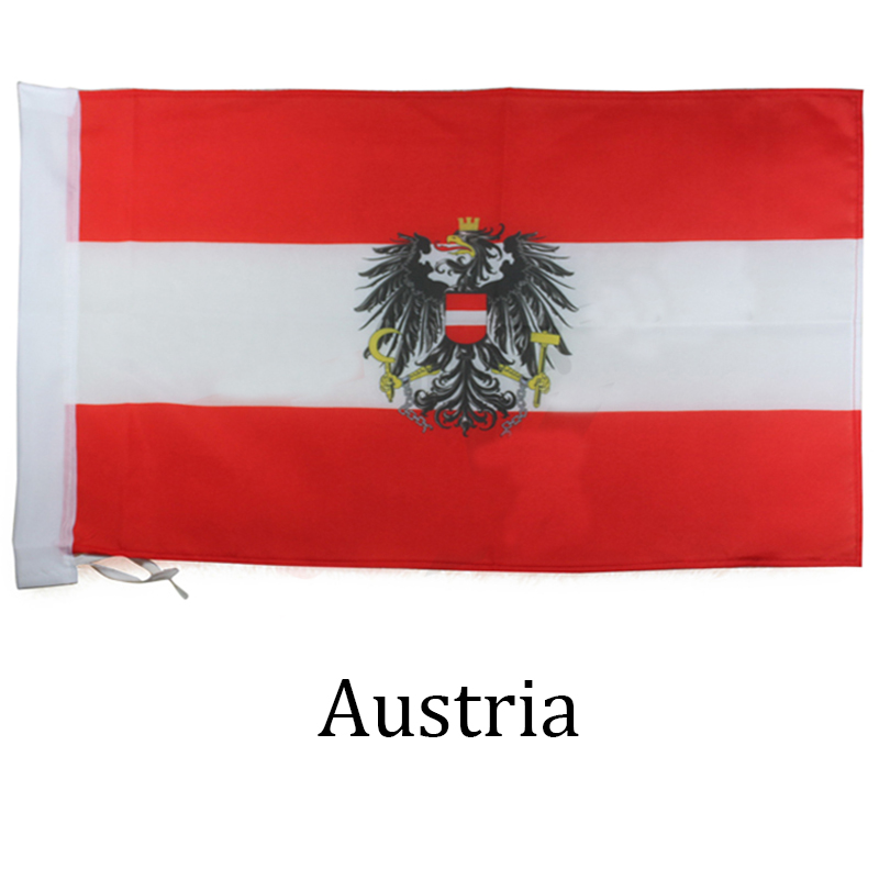 Austria Austrian Flag Double Sided Acrylic Key Ring Large