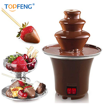 Free shipping TopFeng New Mini Chocolate Fountain Household Chocolate Melting Machine Electric Heating Chocolate Fountain Home