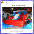 2016 spider man de doble carril de la diapositiva diapositiva seca inflable/tobogán inflable al aire libre para niños y adultos con soplador libre