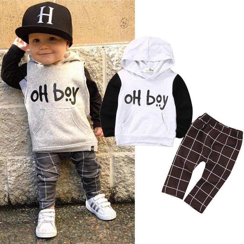 2017 Children Sets Kids Boys Clothing Set Autumn Winter ...
