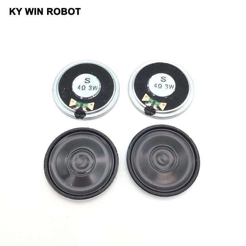 Купить с кэшбэком 5pcs/lot New Ultra-thin speaker 4 ohms 3 watt 3W 4R speaker Diameter 40MM 4CM thickness 5MM