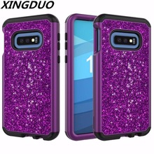 XINGDUO 3 in 1 drop protection armor TPU+PC case cover Fashion Glitter diamond flash phone cases For LG STYLO4 for STYLO3
