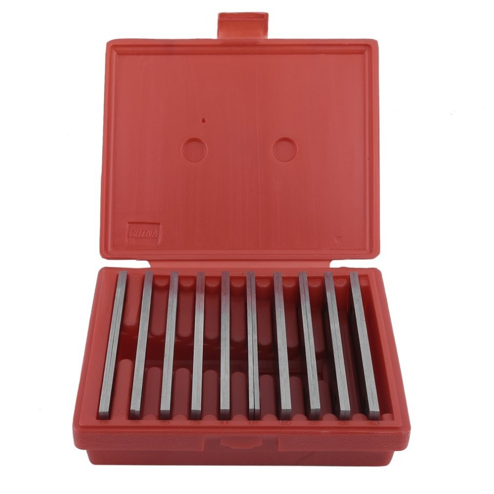 Cimiva 10 Pair Gage Gauge Tool Set 6 Long 1/8 Wide And 1/2 To 1-5/8 Thicken Steel High Precision Parallels Bar Set J0C