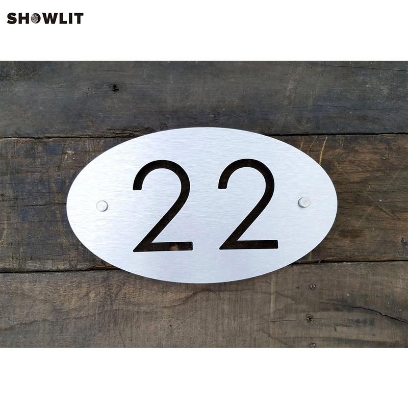 Industria Custom House Number Sign In Stainless SteelIndustria Custom House Number Sign In Stainless Steel