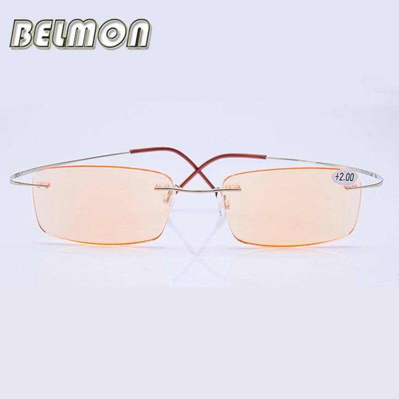 Pure Titanium Frame Magnetic Reading Glasses Men Women Rimless Super Light Diopter Presbyopic Glasses 1 0