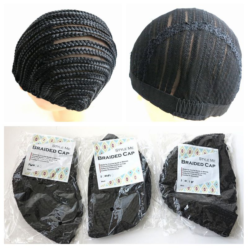 3 Pieces Black Glueless Hair Net Liner Crochet Braid Wig Caps For