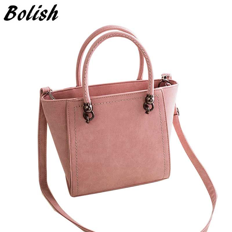 New Arrival High Quality Nubuck Leather Top-Handle Bags Simple Women Shoulder Ba