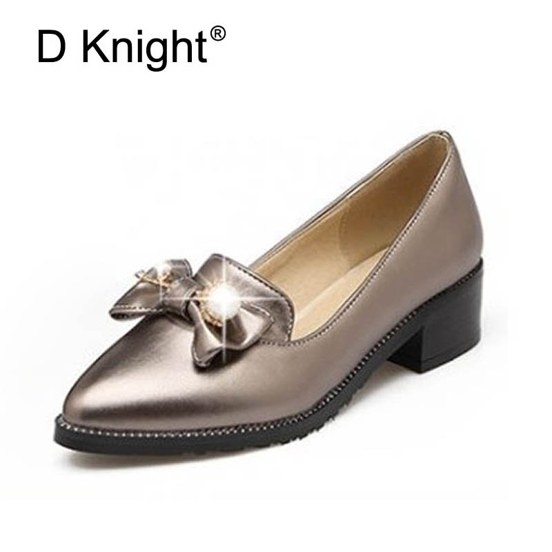 Fashion Pointed Toe Flats Slip-on Women Loafers Ladies Casual Flat Shoes Sweet Bow Flats For Women Plus Size 34-43 Shoes Woman brand fedimiro spring oxford shoes women patent leather pointed toe slip on flat loafers casual metal buckles ladies flats