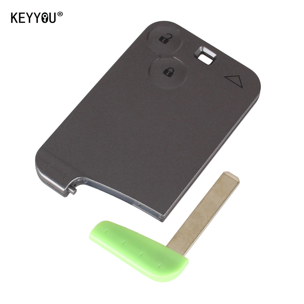 KEYYOU New Replacement 2 Button Remote Key Card Shell Case Smart Card Key Case For RENAULT Laguna(China)