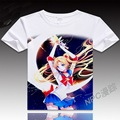 Anime Unisex Tops Tee women t-shirt Sailor Moon digital printed hot anime Sailor Moon t shirt clothes Sailor Moon t-shirt