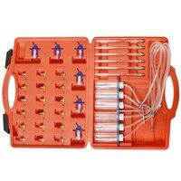 Diesel Injector Flow Diagnostic Cylinder Diesel Injector Flow Test Kit Diesel Adaptor Set Rail Cylinder Kit Test Tool Kit