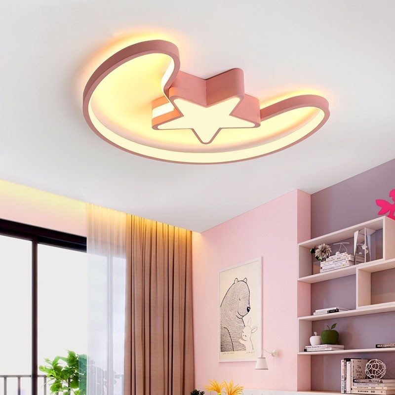 New Design Led Ceiling Light Baby Room Child Star Shape
