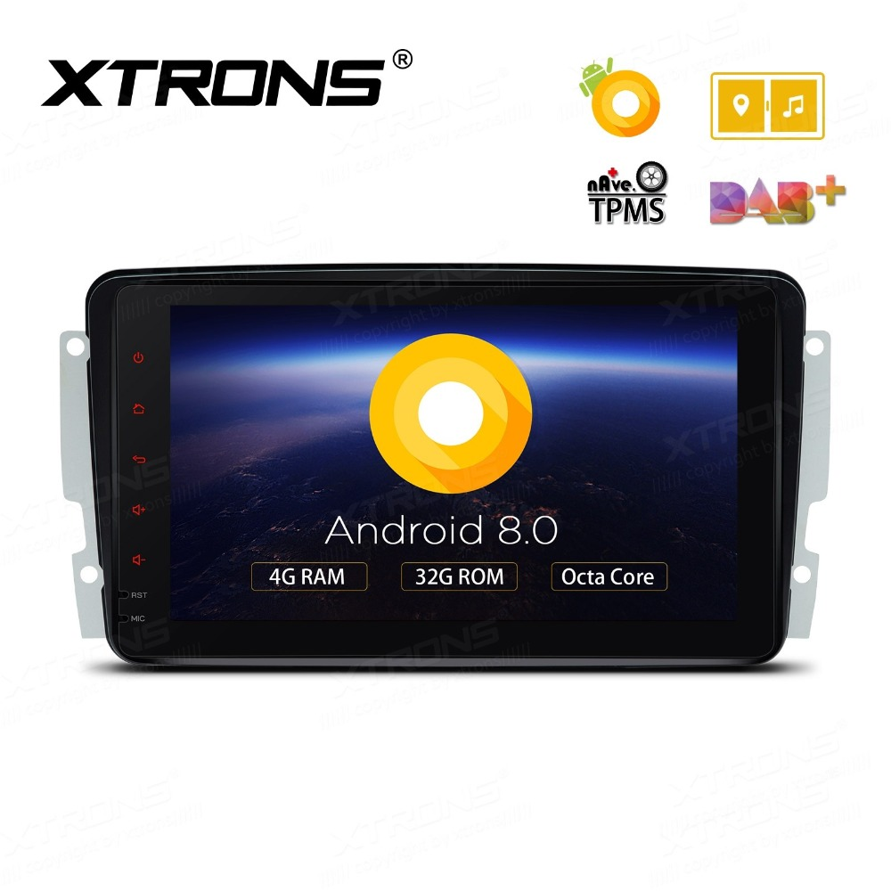 xtrons android 8 0 octa core car dvd player for mercedes. Black Bedroom Furniture Sets. Home Design Ideas