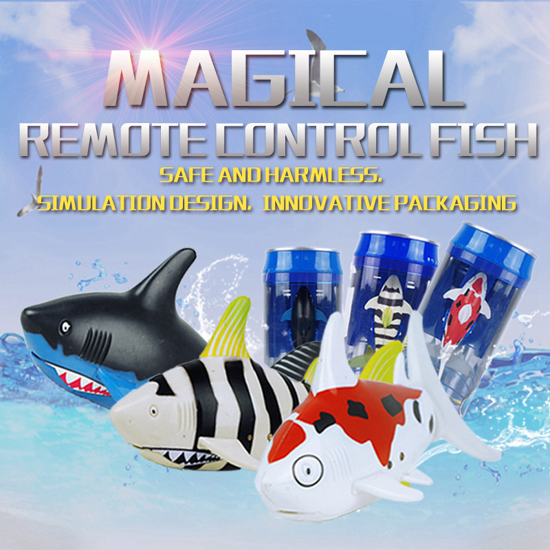 Create Toys 3310B 3CH 4 Way RC Shark Fish Boat Mini Radio Remote Control Electronic Toy Kids Children Birthday Gift