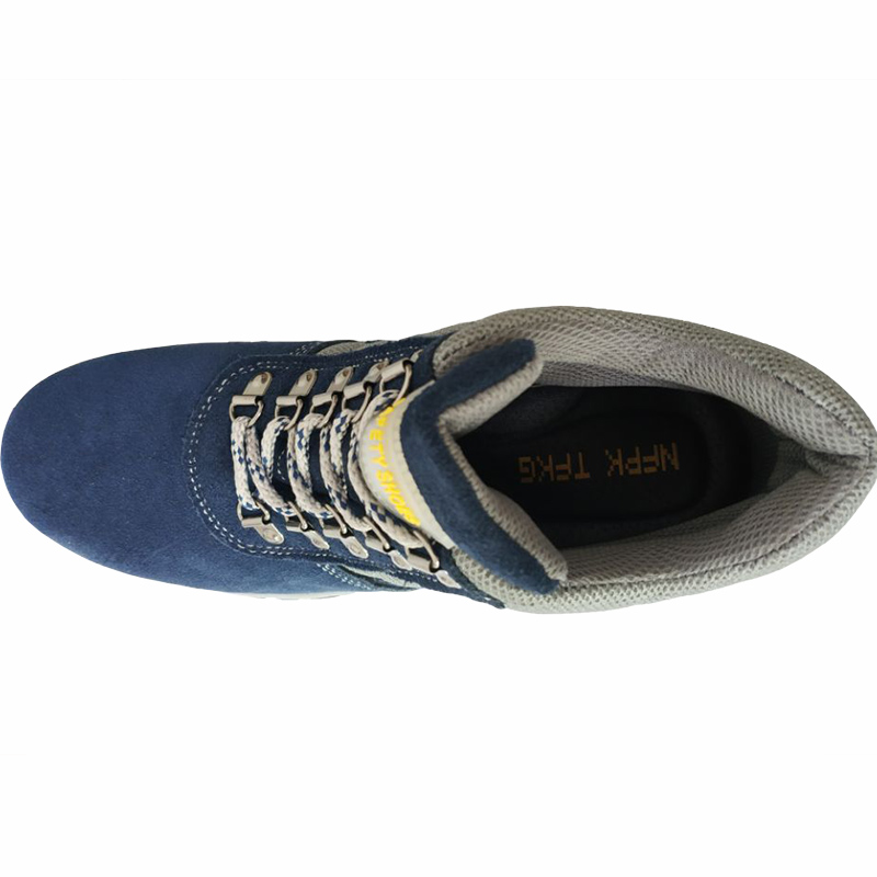With Chaussures Hommes Cheville Fur En Grande Acier Chaud Blue Casual Taille blue Plate Sécurité Hiver Outillage Fourrure Souple Embout Travail De Neige Bottes Fur forme Cuir Without 4PPqp5