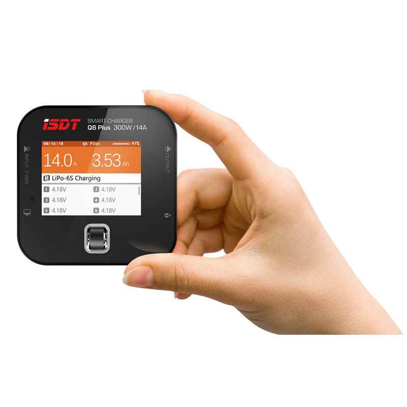 ISDT Q6 Plus 300W 14A MINI Pocket Battery Balance Charger фонарь maglite mini 2aa черный 14 6 см в блистере с чехлом 947172