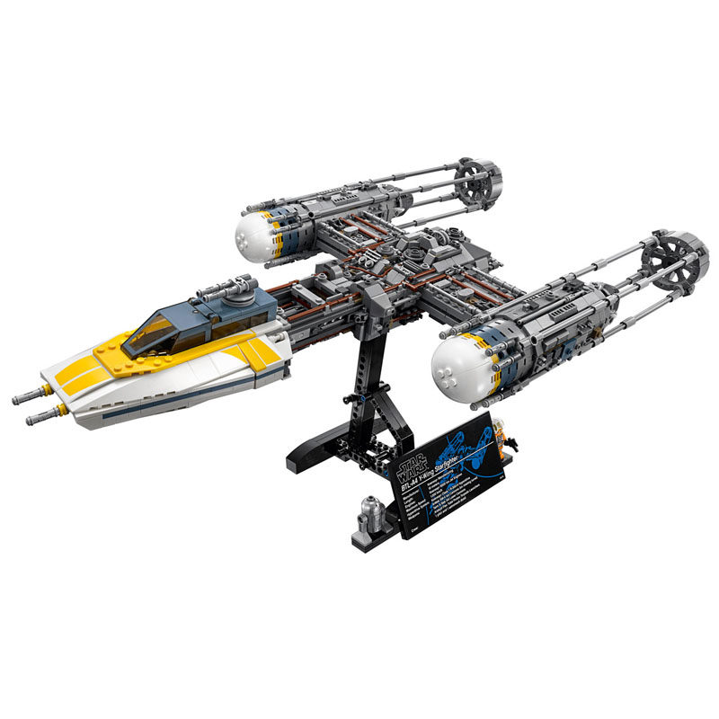 LEPIN 05040 1550pcs Star Series The Y Set Wing Attack Star Model fighter Model Building Block Brick Toy For children Gift 10134 lepin 05040 y attack starfighter wing building block assembled brick star series war toys compatible with 10134 educational gift