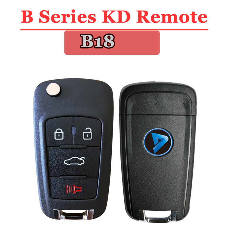 Free shipping (1 piece)B18 kd remote 3+1 Button B series Remote Key for URG200/KD900/KD200 machine free shipping 4 1 button full remote key shell for chrylser dodge jeep 10 piece lot