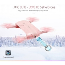 JJRC H37 2017 New ELFIE LOVE Foldable Mini RC Selfie Drone Quadcopter with WiFi FPV HD Camera Altitude Hold RC Helicopter