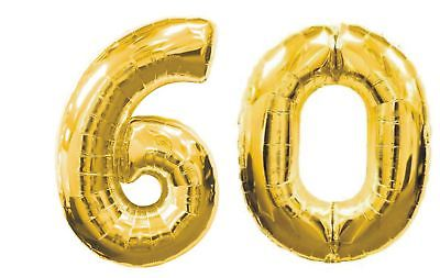 60th Birthday Party Decoration Giant 40 Inch Gold Silver