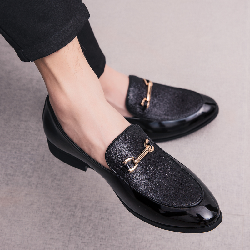 Fashion Pointed Toe business Dress Shoes Men Loafers Leather Oxford Shoes for Men Formal Mariage slip on Wedding party Shoes k3 1