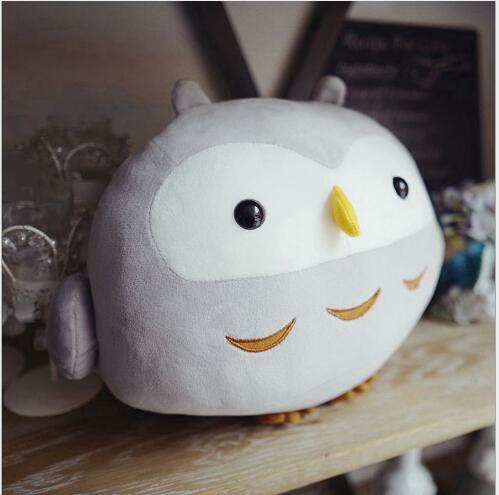 WYZHY bas coton assis hibou oreiller climatisation couverture en peluche jouet poupée canapé décoration envoyer des amis enfants gifts30CM