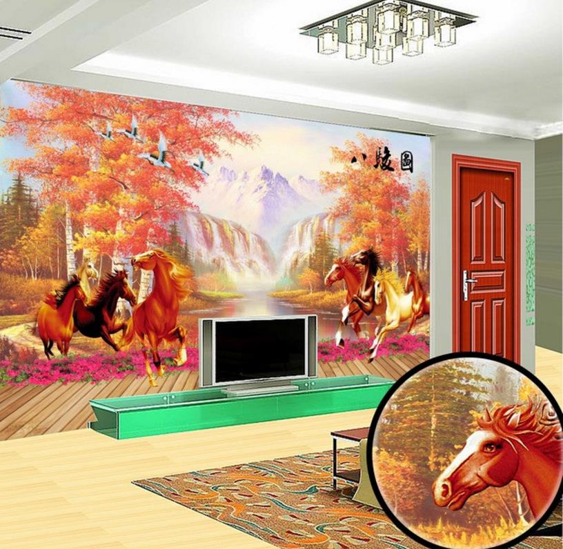 Benutzerdefinierte 3D Fototapete Herbst 3D Landschaft Tapete Wohnzimmer Schlafzimmer  Kinderzimmer Tapete Wandmalereien Weichen Dekoration In ...