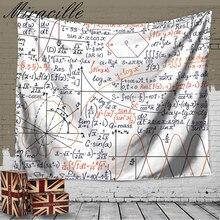 Miracille Fórmula Matemática reloj de Pared Arte de la Decoración Casera de La Manera Química Toalla de Playa Cover Up Alfombra Dormitorio 2 Tamaños