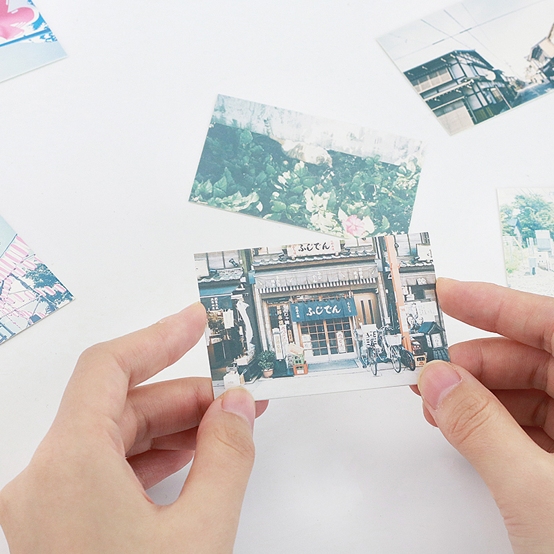 multi-use 5.2*8cm 54pcs Mini Card travel Japan in summer theme Scrapbooking party invitation DIY Decor gift party card