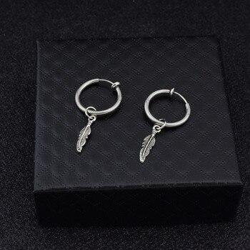 BTS Jimin Tree Leaf Pendant Ear Clip Stud Earring