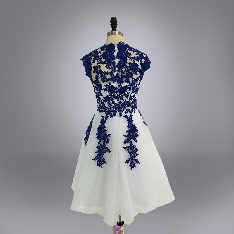 Real photo Homecoming   Dresses   Short Prom   Dresses   Lace Appliques Red Blue Black Mini   Cocktail     Dresses