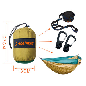 Image 3 - Acehmks Aluminum Alloy Snap Hammocks For 2 Person Sleeping Bed Outdoor Camping Swing Portable Ultralight Design 300*200 CM