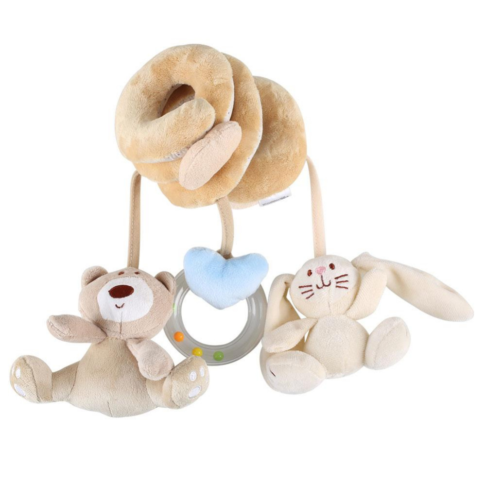 Crib activity toys for babies - Cute Infant Babyplay Baby Toys Activity Spiral Carton Bear Rabbit Bed Stroller Toy Set Hanging Bell Crib Rattle Toys For Baby