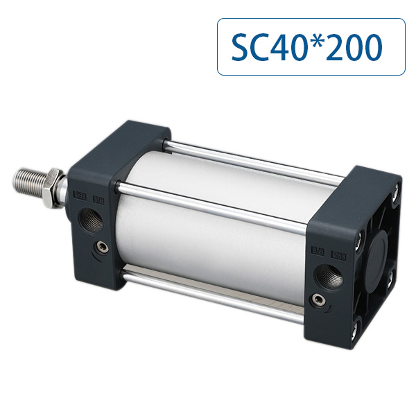 SC40x200 pneumatic cylinder, bore 40mm, stroke 200mm, single pole double acting standard air cylinder SC40*200SC40x200 pneumatic cylinder, bore 40mm, stroke 200mm, single pole double acting standard air cylinder SC40*200