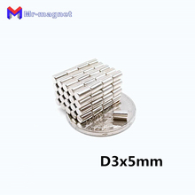 2000pcs 3 x 5 mm magnet Super Strong Circular Small Disc D3x5 Rare Earth Neodymium Magnet 3*5 Art Craft magnets Dia