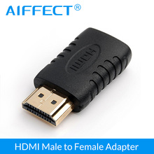 AIFFECT HDMI Male To Female Cable Adapter 24K Gold Plated Connector Converter for 1080P HDTV