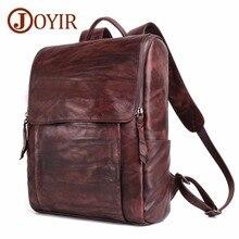 JOYIR Genuine Leather Travel Backpack Large Capacity 15