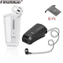 Newest Fineblue F990 Wireless Bluetooth earphones neck clip on telescopic type business Sport stereo head phones Vibration Wear