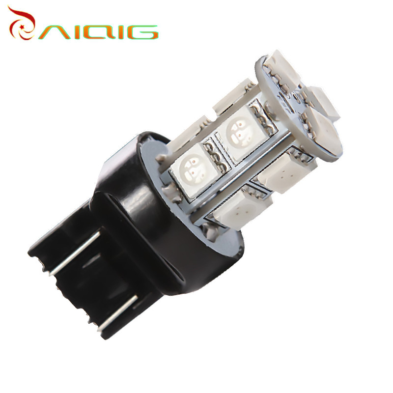 7443 7440 T20 13 SMD 5050 Red LED Car Lamp lamp w21 / 5 w LED car bulbs stop brake lights of the car light source 12 V 2pcs 1200lm t20 7443 led bulbs 7440 w21 5w led car lights turn signal brake light parking light auto fog lamps red amber