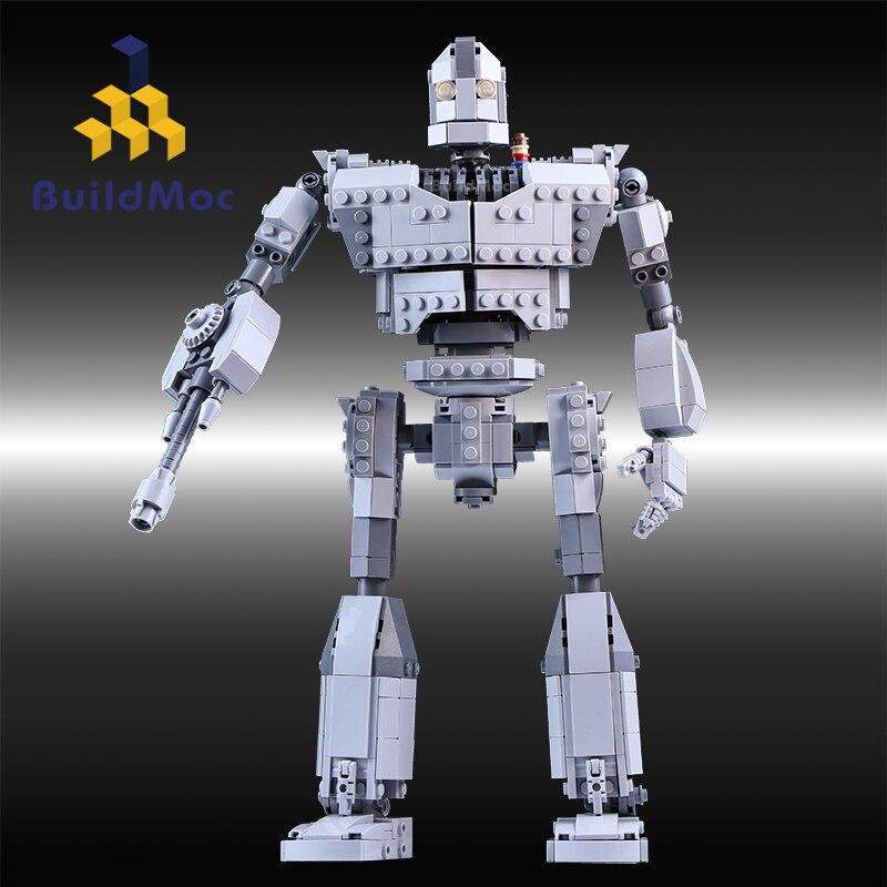 MOC serii cegieł 818 sztuk twórcy żelazny Robot Model klocki klocki zabawki kompatybilne z zestawy filmowe w Klocki od Zabawki i hobby na  Grupa 1