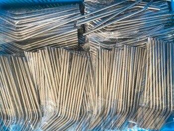 Ücretsiz kargo paslanmaz çelik 304 bükülmüş 6x267 MM pipet 10.5 inç bükülmüş 500 adet + 500 adet temizleme fırçalar