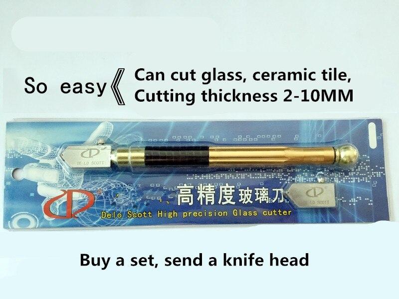 4pcs Professional Diamond Roller cut diy Glass cutting knife tools bottle Cutter tool for glasscutter cortador de vidro