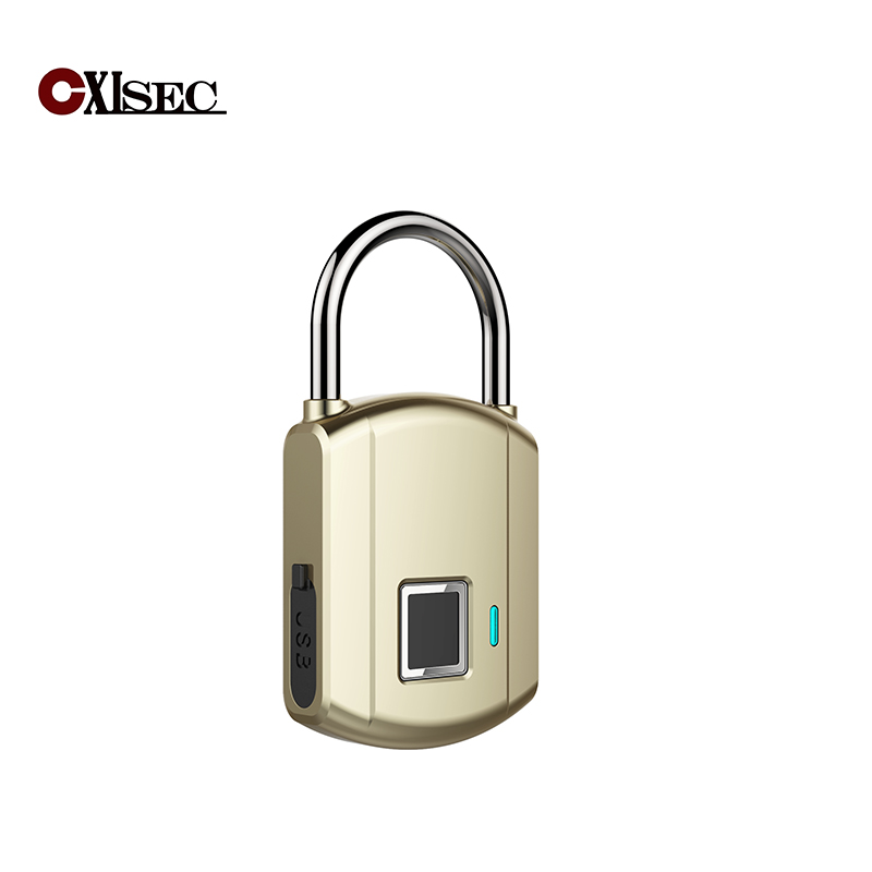 door lock fingerprint lock USB charge keyless fingerprint padlock biometric door lock safe security lock smart electronic lock