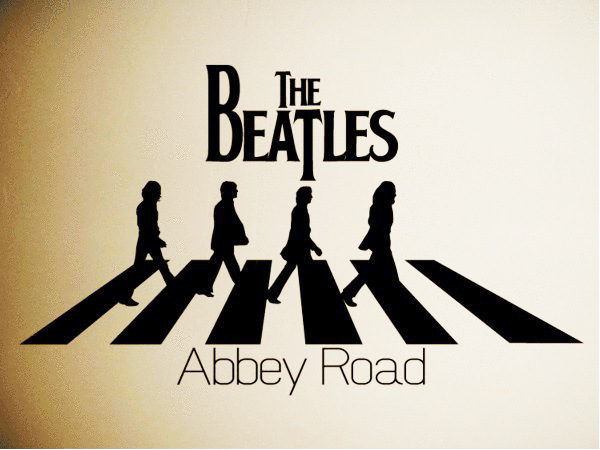 90 the beatles abbey road silhouette trends international wall