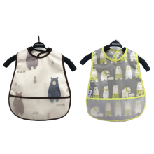 Baby Bibs EVA Waterproof Lunch Cartoon Fruits Printing Infants Boys Girls Feeding Burp Cloths Apron Clothing
