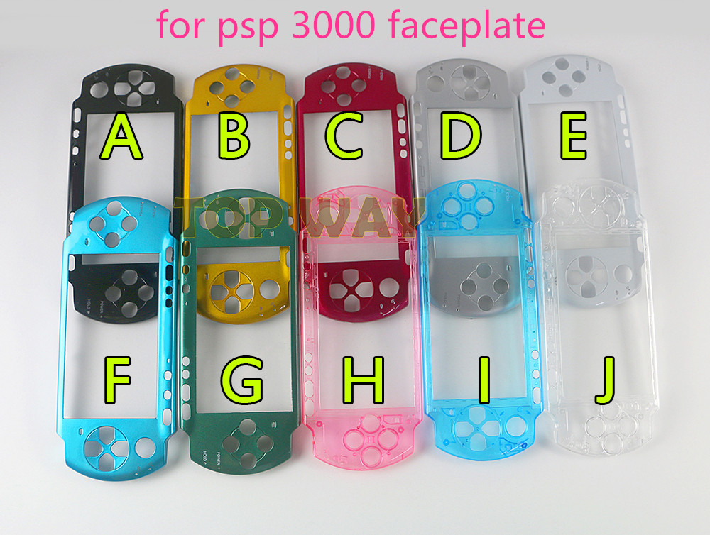 10pcs lot Replacement Front Shell Faceplate FOR PSP 3000 PSP 3000 Console with logo NEW High