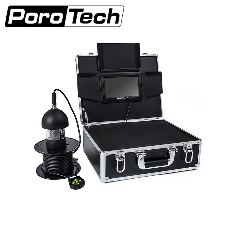 F18 20M 7 9 Underwater Video Fishing Camera Kit Fish Finder with 18 white lights night