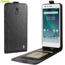 Чехол для телефона Nokia 2, чехол Nokia2, чехол, роскошный кожаный Вертикальный флип-кошелек, сумка для телефона, чехол для Nokia 2