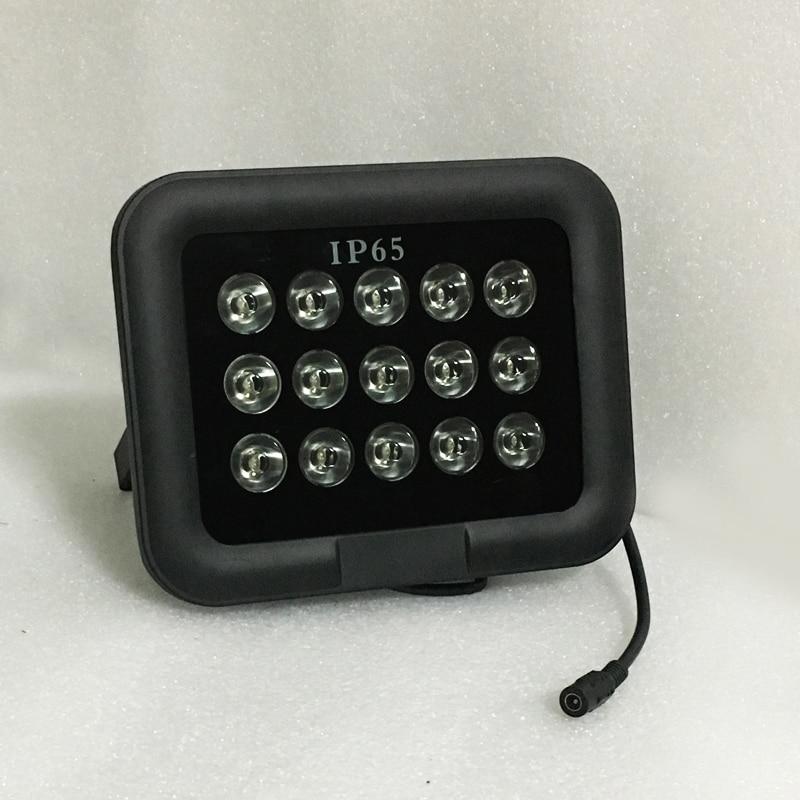 Surveillance Camera Outdoor Metal Black 15pcs 27W Array White Infrared leds Fill Night vision illuminator Lamp
